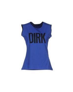 Майка DIRK BIKKEMBERGS SPORT COUTURE. Цвет: синий