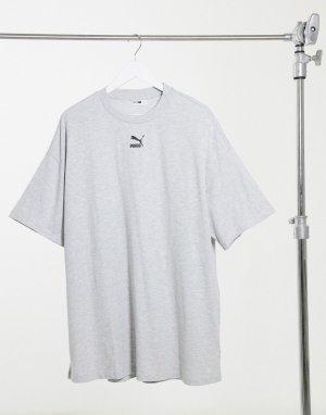 Серое платье-футболка -Серый Puma