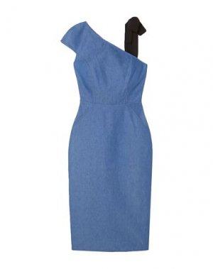 Платье длиной 3/4 ARIAS. Цвет: синий