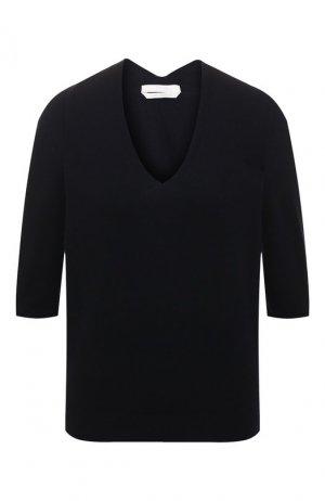 Кашемировый пуловер BOSS. Цвет: темно-синий