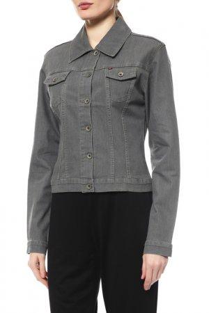 Куртка джинсовая Independent Fashion. Цвет: серый
