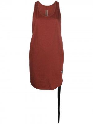 Спортивный топ без рукавов Rick Owens DRKSHDW. Цвет: красный