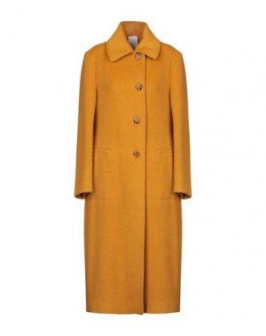 Пальто MANUELA CONTI. Цвет: охра