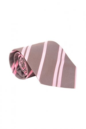 Галстук BOSS. Цвет: розовый, серый