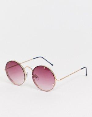 Круглые солнцезащитные очки в фиолетовой оправе -Фиолетовый Spitfire