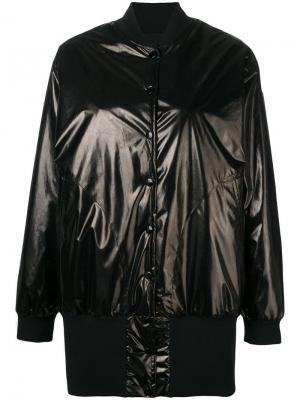 Куртка-бомбер в стиле оверсайз Mm6 Maison Margiela. Цвет: черный