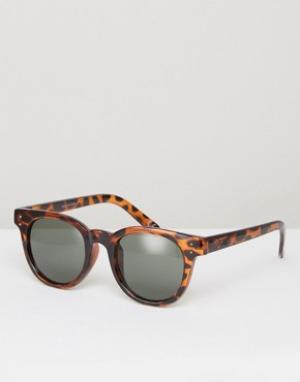 Солнцезащитные очки в черепаховой оправе Welborn V005YOM5Z Vans. Цвет: коричневый