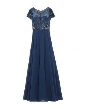 Длинное платье NICOLE. Цвет: темно-синий