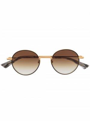 Солнцезащитные очки в круглой оправе Christian Roth. Цвет: золотистый