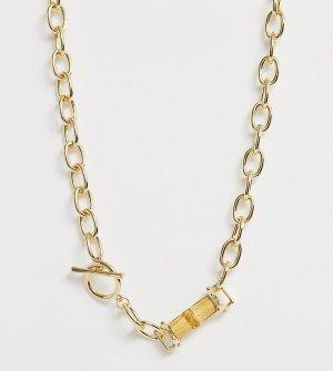 Ожерелье с массивной цепочкой и бамбуковой подвеской -Золотой Liars & Lovers