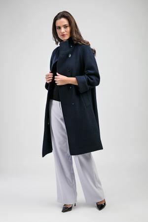 Женское шерстяное пальто на большой размер Teresa Tardia. Цвет: синий