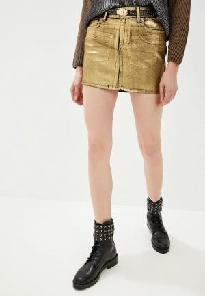 Юбка джинсовая Liu Jo. Цвет: золотой