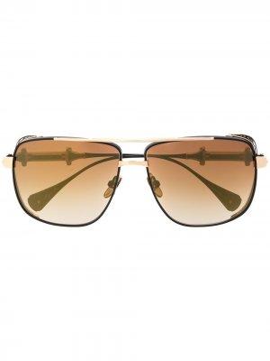 Солнцезащитные очки Chivalry в квадратной оправе EQUE.M. Цвет: черный
