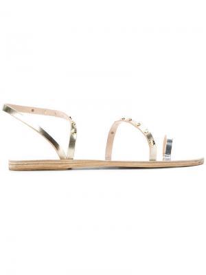 Сандалии с ремешками заклепками Ancient Greek Sandals