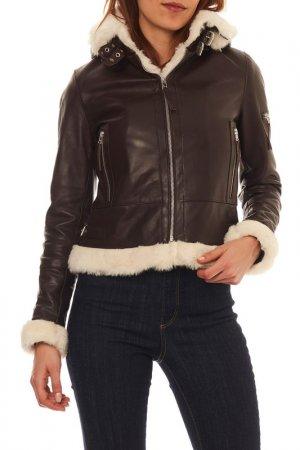 Jacket Isaco & Kawa. Цвет: dark brown