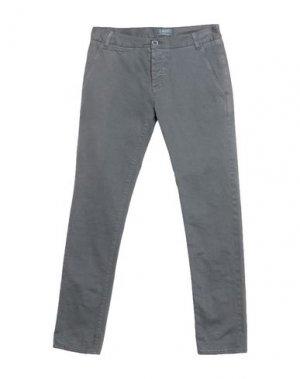 Повседневные брюки 2 MEN. Цвет: серый