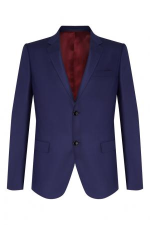 Синий классический костюм Gucci Man. Цвет: синий