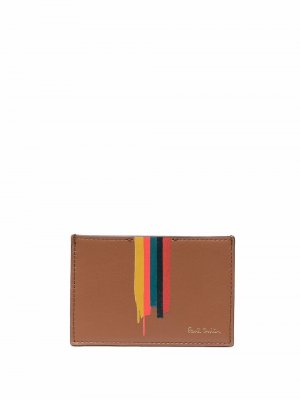 Painted-stripe print cardholder PAUL SMITH. Цвет: коричневый