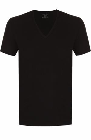 Хлопковая футболка с V-образным вырезом Calvin Klein Underwear. Цвет: черный