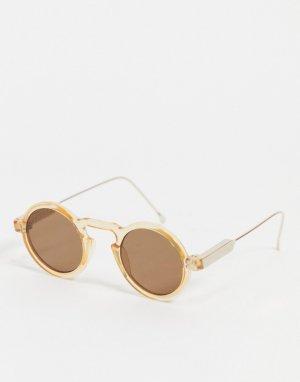 Круглые солнцезащитные очки в стиле унисекс с коричневыми линзами светло-коричневой оправе Len 5-Коричневый цвет Spitfire