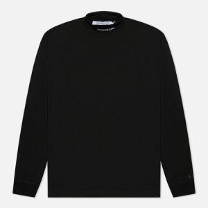 Мужской лонгслив Micro Branding High Neck Calvin Klein Jeans. Цвет: чёрный