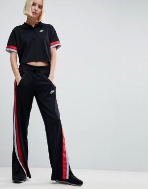 Черные спортивные брюки Retro Nike. Цвет: черный
