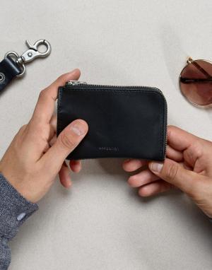 Кожаный бумажник Penny Sandqvist. Цвет: черный