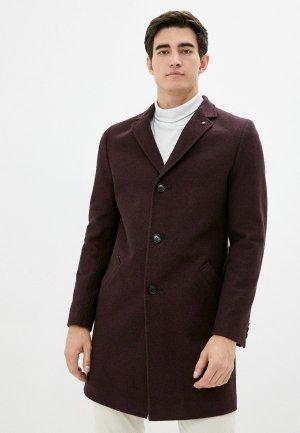 Пальто Berkytt. Цвет: бордовый