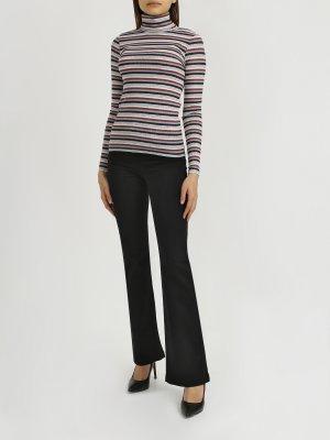 Расклешеные джинсы Patrizia Pepe. Цвет: chernyy