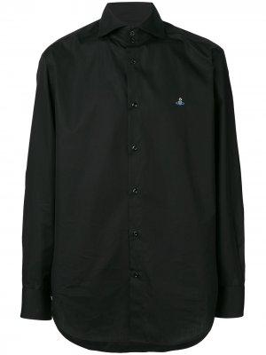 Приталенная рубашка с длинными рукавами Vivienne Westwood. Цвет: черный