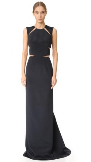 Вечернее платье без рукавов KAUFMANFRANCO. Цвет: голубой
