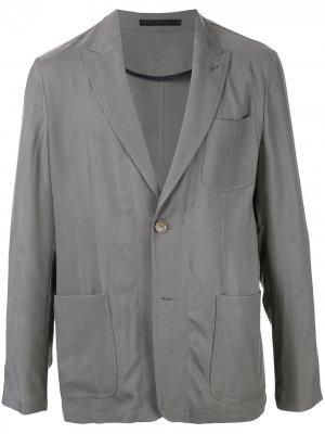 Пиджак со сборками Giorgio Armani. Цвет: серый
