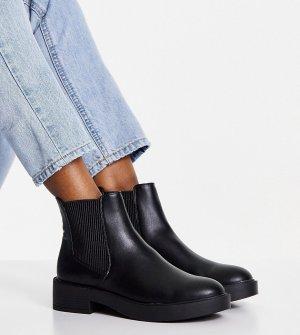 Черные ботинки челси для широкой стопы Alford-Черный цвет ASOS DESIGN