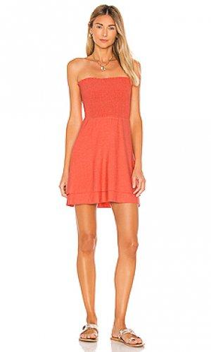 Платье Chaser. Цвет: оранжевый