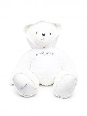 Мягкая игрушка медведь с логотипом Givenchy Kids. Цвет: белый