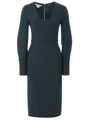 Платье-футляр из шерсти ANTONIO BERARDI