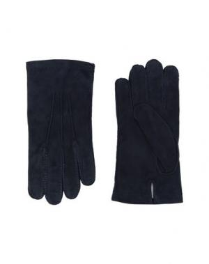 Перчатки ELEVENTY. Цвет: темно-синий