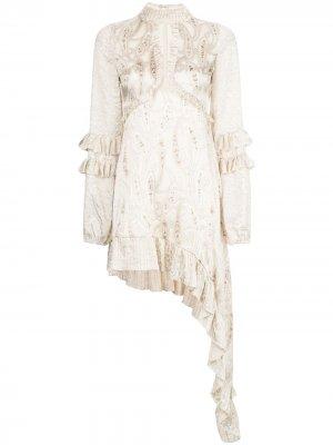 Платье Liora с оборками Alexis. Цвет: нейтральные цвета