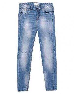 Джинсовые брюки ICEBERG. Цвет: синий