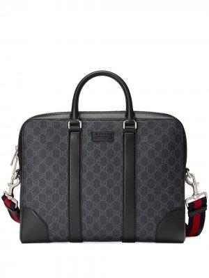 Портфель GG Supreme Gucci. Цвет: черный