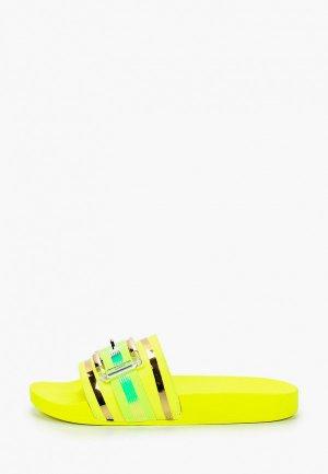 Сланцы GLAMforever. Цвет: желтый