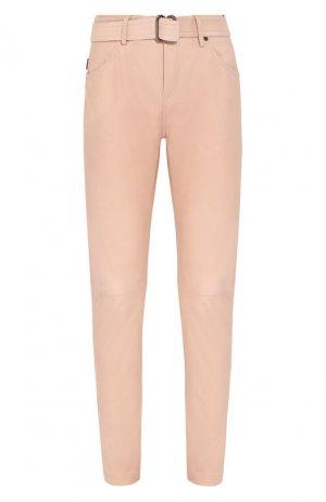Кожаные брюки Tom Ford. Цвет: розовый