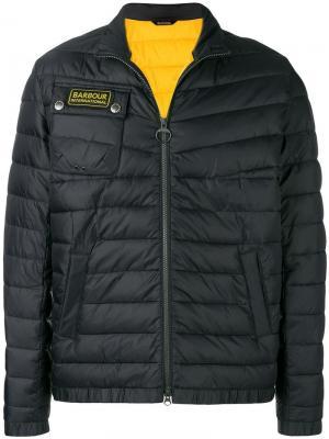 Дутая куртка Barbour. Цвет: черный
