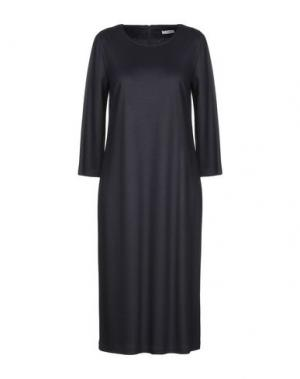Платье длиной 3/4 CAPPELLINI by PESERICO. Цвет: темно-синий