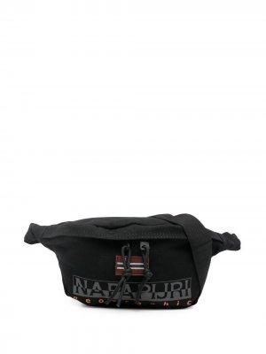 Поясная сумка с логотипом Napapijri. Цвет: черный