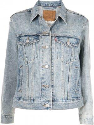Levis джинсовая куртка Ex-Boyfriend Trucker Levi's. Цвет: синий