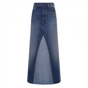 Джинсовая юбка Maison Margiela. Цвет: синий