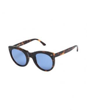 Солнечные очки MOVITRA. Цвет: темно-коричневый