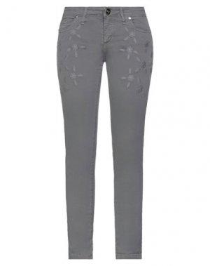 Повседневные брюки H2O ITALIA. Цвет: серый