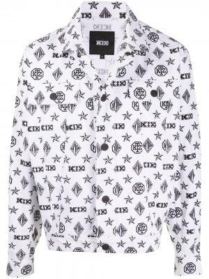 Джинсовая куртка с монограммой KTZ. Цвет: белый